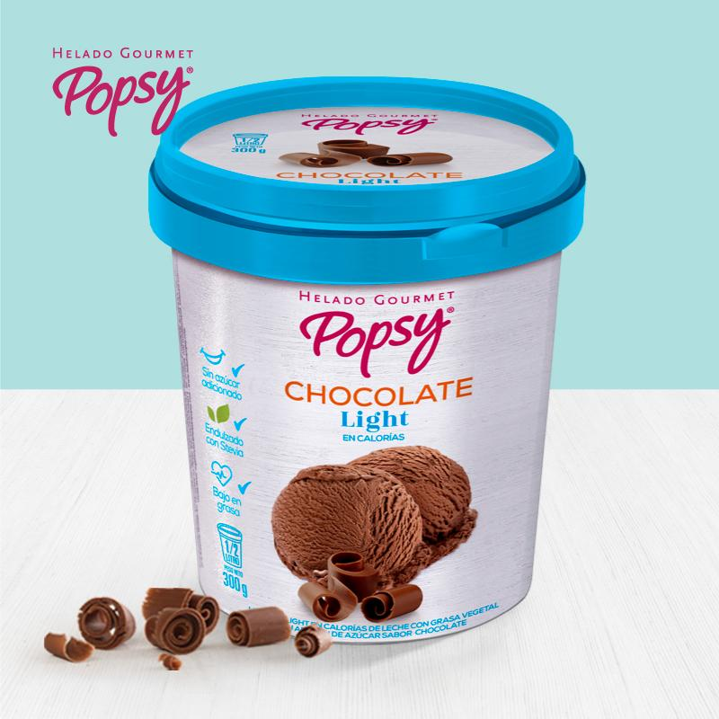 Popsy Postres Chocolate Light x 4 porciones (0.5 Lts)