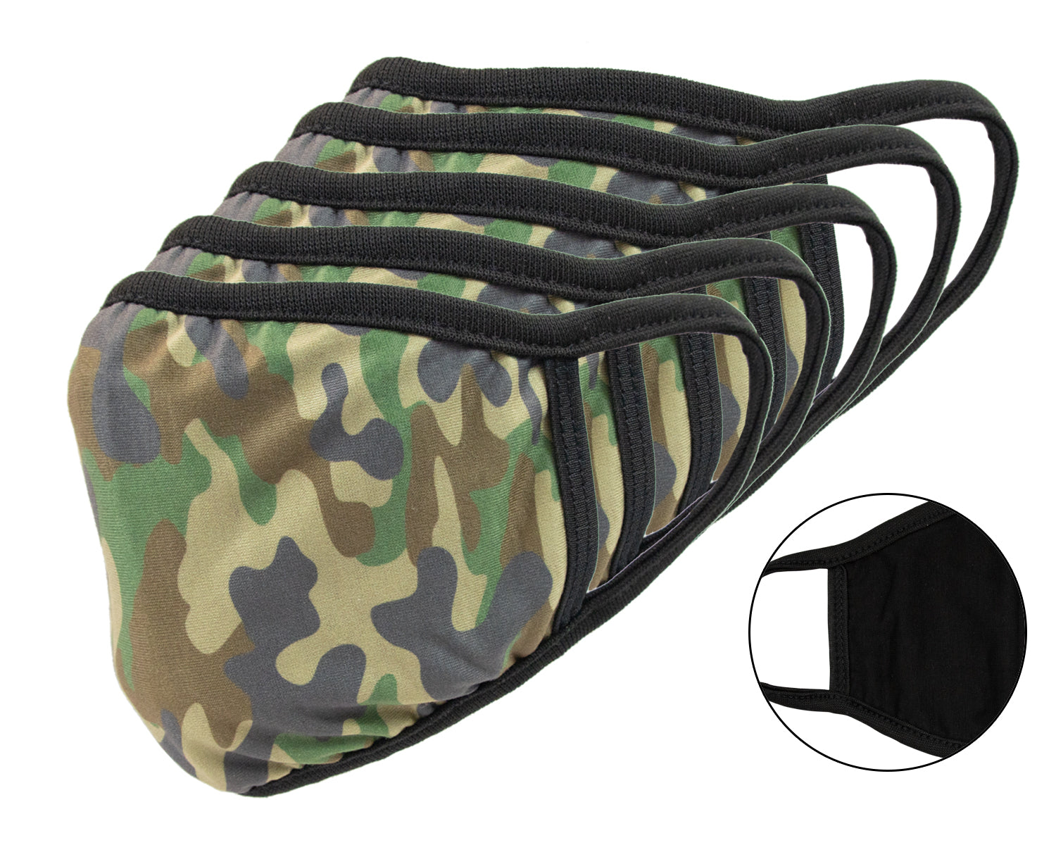 2-Ply Camo Face Mask 5-Pack