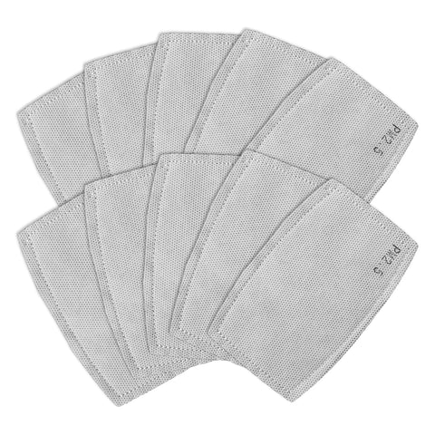 PM 2.5 Cloth Mask Filters - 10 Pack