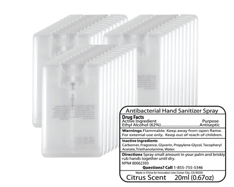 Credit Card Hand Sanitizer - 50-Pack