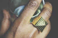 Zara Pyramid Gold Ring