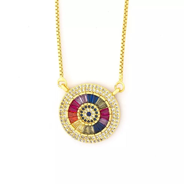 Rainbow Cubic Zirconia Necklace