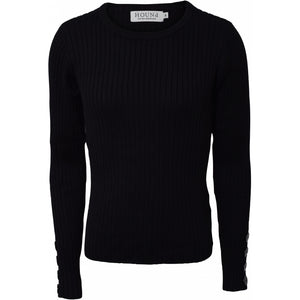 Button knit - Black