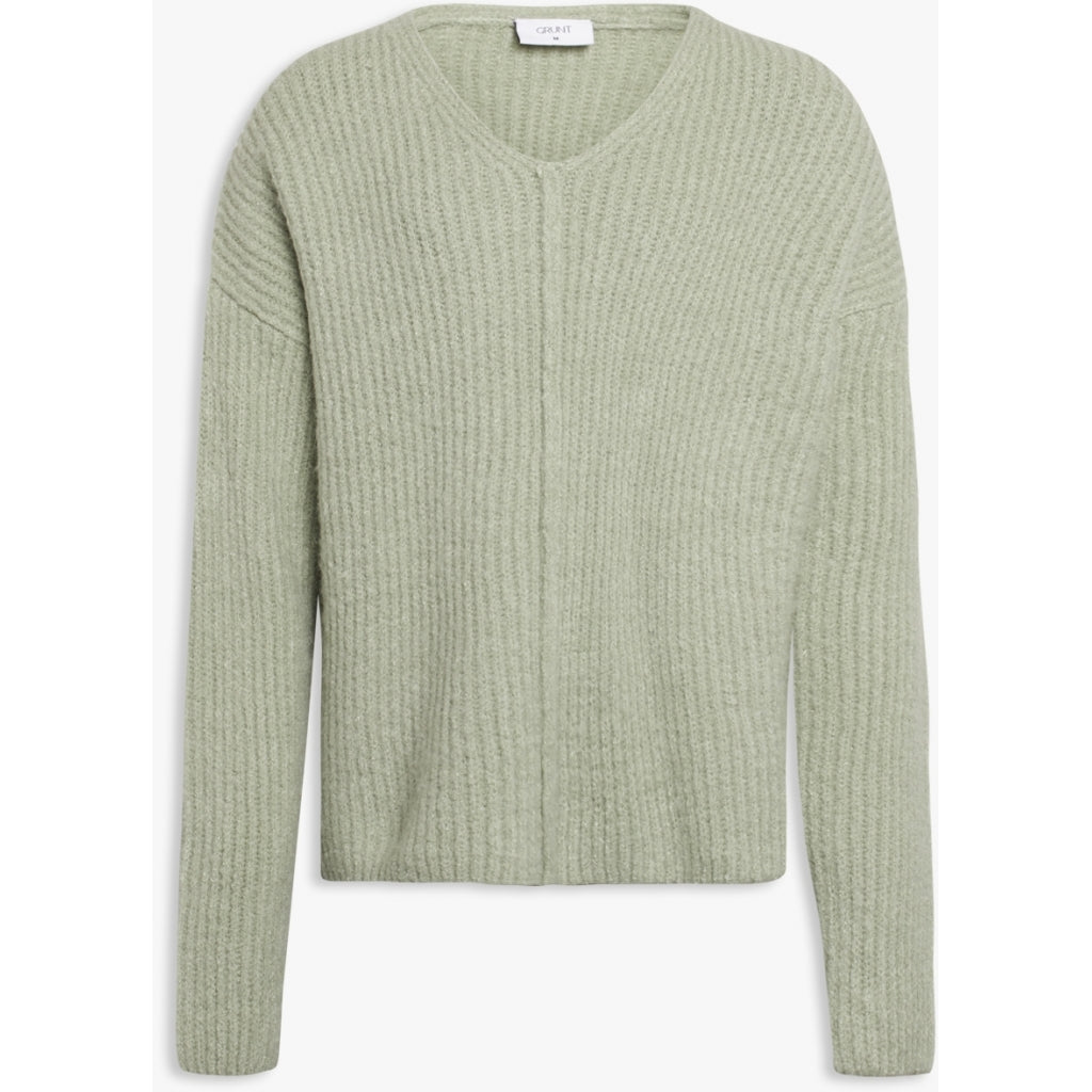 Define V-neck knit - pastel green
