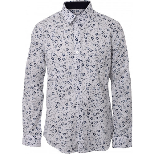 BadStore - Hound - Patterend Shirt - white blue