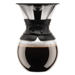 Bodum Pour Over Coffee Maker With Permanent Filter 1L - Black