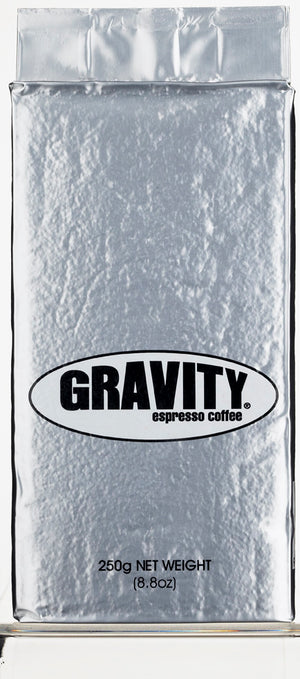 Gravity Espresso Organic Ground Coffee 250g Bean Alliance Group Roasted Coffee monte-coffee