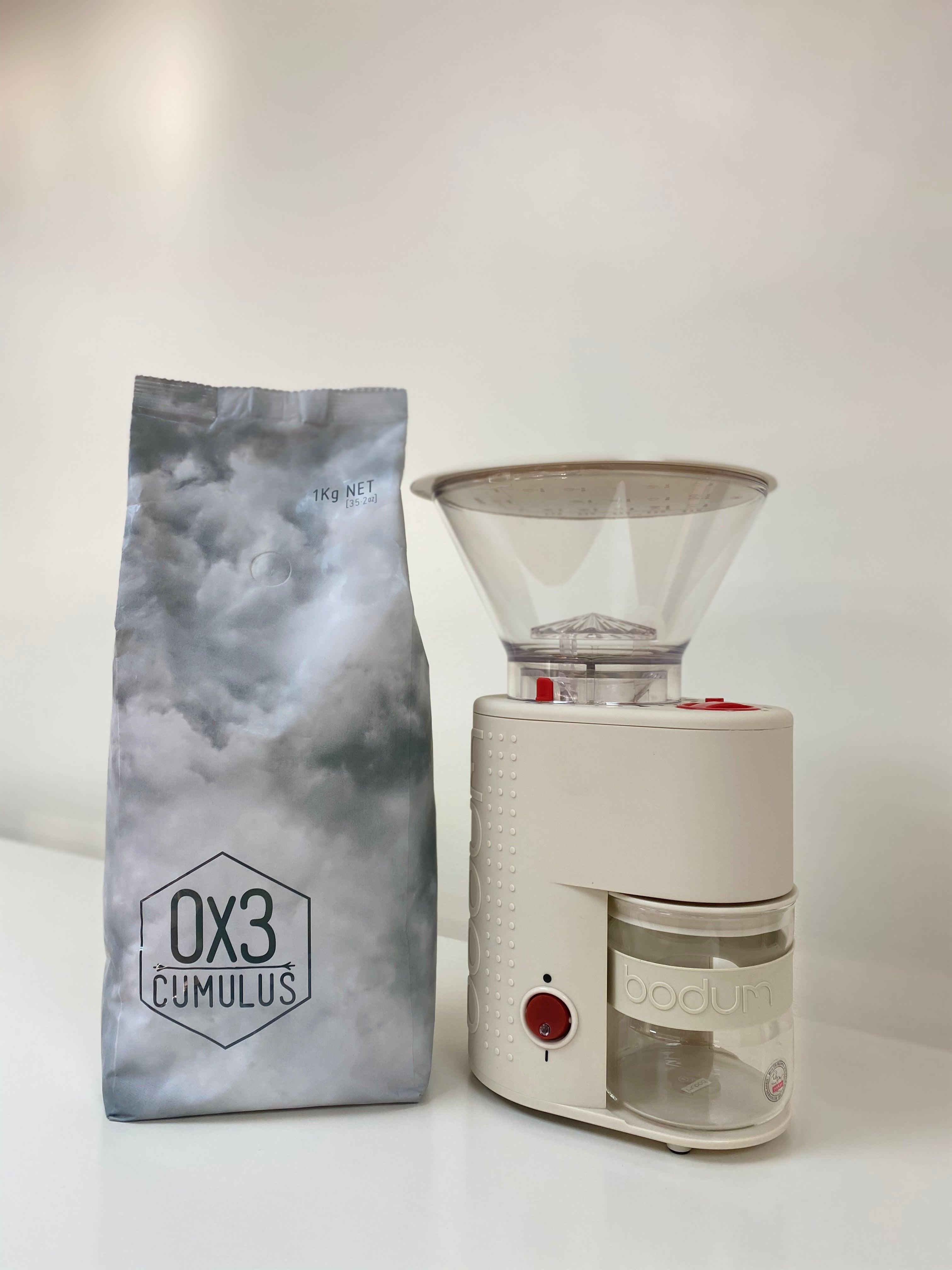 Ox3 Bodum White Electric Grinder - BEANS