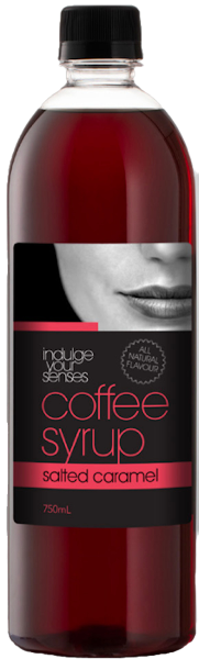 Indulge Your Senses Salted Caramel Coffee Syrup 750ml Monte Coffee Syrup monte-coffee