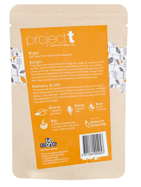 Project T Earl Grey Loose Leaf Tea 150g Bean Alliance Group Tea monte-coffee