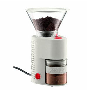 Bodum Bistro Burr Electric Coffee Grinder - White