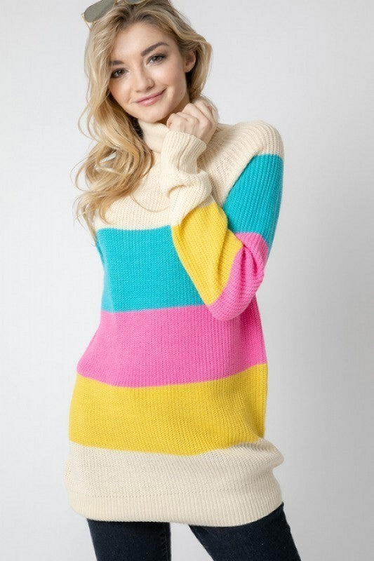 Kismet Striped Turtleneck Sweater