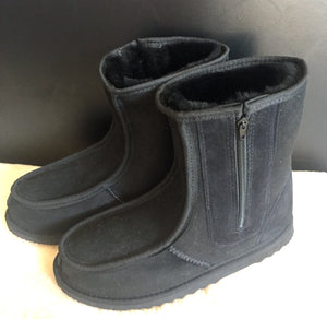 Mens Short Deluxe Boots with Side Zippers