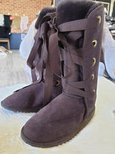 Load image into Gallery viewer, Ladies Long Classic Boots with Front Lace Ups
