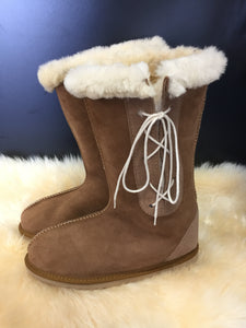 Mens Long Viking Boots with Side Laces