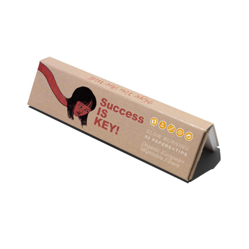 Success IS Key! - Organic Vegetable Fiber Rolling Papers