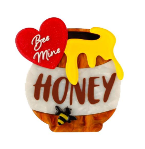 Erstwilder Valentine Bee Mine Honey Brooch