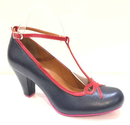 Cristofoli Bridget Navy with Red