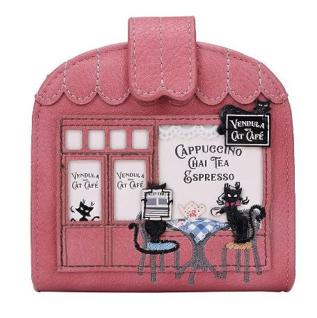 Vendula Cat Café Clipper Coin Card Wallet
