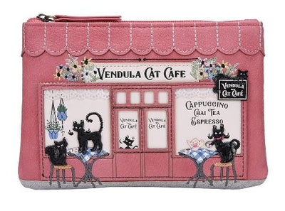 Vendula Cat Café Zipper Coin Purse