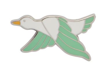 Erstwilder EP Dancing Duck Green Enamel Pin