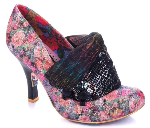 Irregular Choice Flick Flack Black Floral