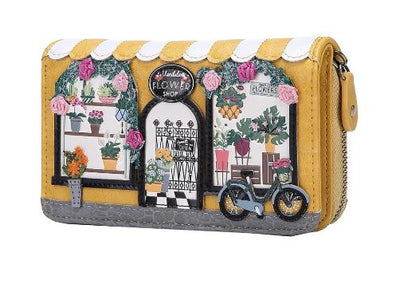 Vendula Flower Shop Medium Zip Around Wallet