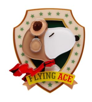 Erstwilder Peanuts Flying Ace Brooch
