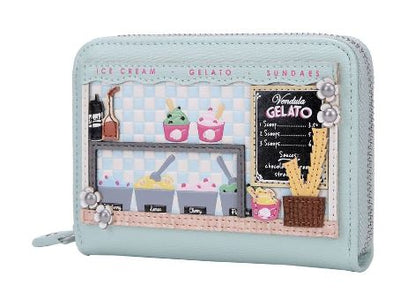 Vendula Gelato Truck Small Zip Around Wallet