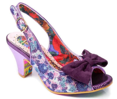 Irregular Choice Hiya Synth Purple Floral