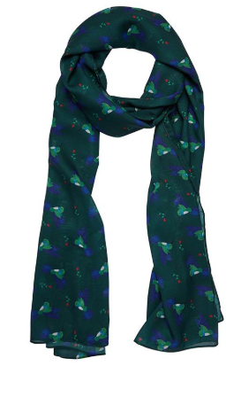 Erstwilder FF20B Hyacinth The Hummingbird Large Neck Scarf
