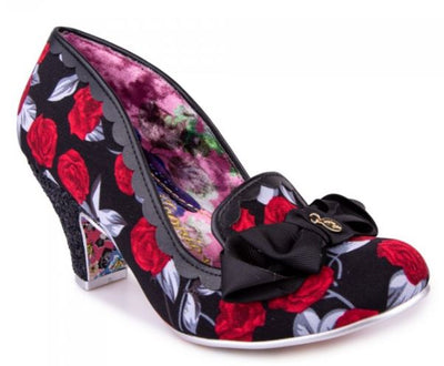 Irregular Choice Kanjanka Roses Black