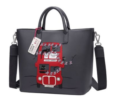 Vendula London Cats London Bus Large Tote