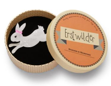 Erstwilder FF20#3 Marshmallow Rabbit Brooch