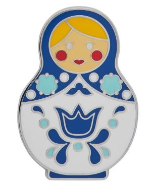 Erstwilder EP Matryoshka Memories Blue Large Enamel Pin