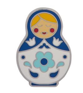 Erstwilder EP Matryoshka Memories Blue Medium Enamel Pin