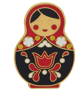 Erstwilder EP Matryoshka Memories Red Large Enamel Pin