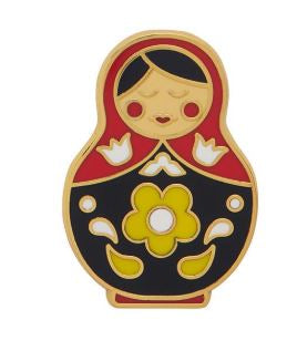 Erstwilder EP Matryoshka Memories Red Medium Enamel Pin