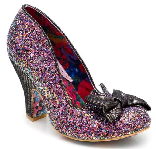 Irregular Choice Nick of Time Black Multi Glitter