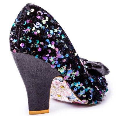 Irregular Choice Party Nick Of Time Black Sequins