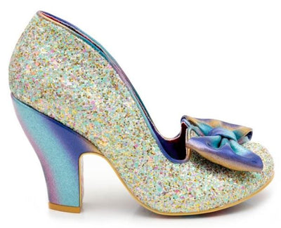 Irregular Choice Nick of Time Pale Green Glitter