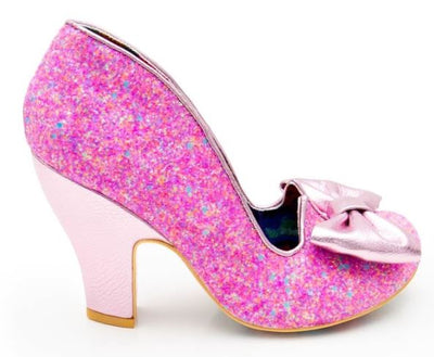 Irregular Choice Nick of Time Bright Pink Glitter