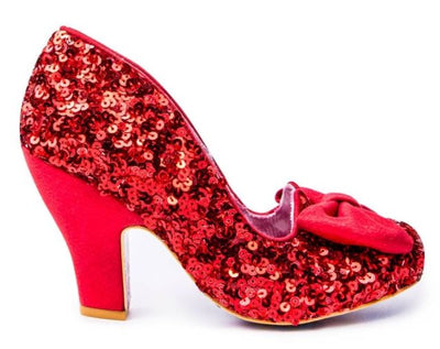 Irregular Choice Party Nick Of Time Red Sequins