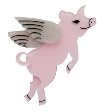 Erstwilder FF20#3 Pigs Can Fly Brooch