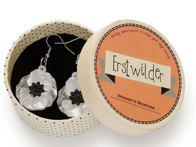 Erstwilder Poppy Field Drop Earrings White