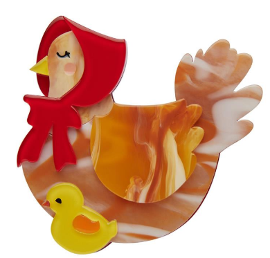 Erstwilder Easter Proud Mother Hen Brooch