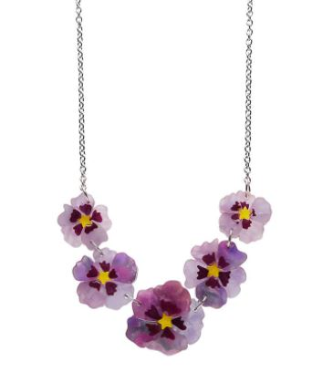 Erstwilder A Floral Affair Purple Prose Necklace
