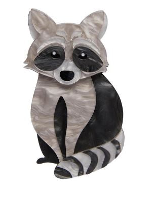 Erstwilder Woodland Rockets Riot Raccoon Brooch