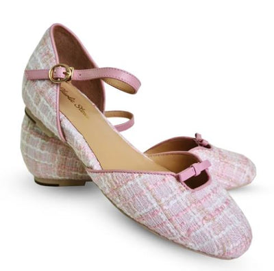 Charlie Stone Rose Blush Tweed