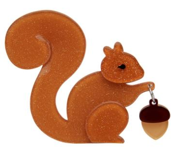 Erstwilder FF20#3 The Satisfied Squirrel Brooch